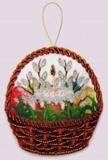 Набор для изготовления игрушки из фетра для вышивки бисером Празднчная корзинка Баттерфляй (Butterfly) F134