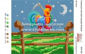 Схема для вышивки бисером на габардине В ночі, , 17.00грн., БА5-306, Вишиванка, Петух символ 2017 года