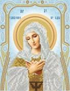 Схема для вышивки бисером на атласе Умиление Пресвятой Богородицы