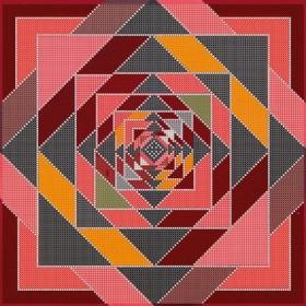 Схема для вышивки бисером на холсте Декоративный орнамент
