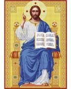 Схема вишивкі бісером на габардині Господь Вседержитель на троне