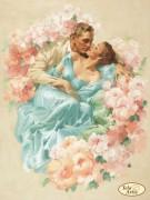 Схема вышивки бисером на атласе Благоухание любви