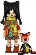 Набор для шитья куклы и мягкой игрушки Девочка с лисенком