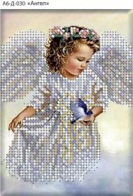 Схема для вышивки бисером на габардине Ангел