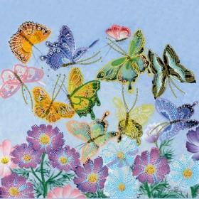 Схема для вышивки бисером на холсте Танец бабочек