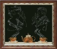 Набор для вышивки крестом Чайная фантазия 1 Краса и творчiсть 50513
