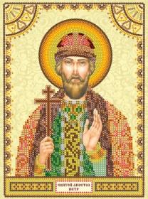 Схема для вышивки бисером на холсте Святой Пётр