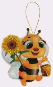 Набор для изготовления игрушки из фетра для вышивки бисером Пчёлка, , 48.00грн., F031, Баттерфляй (Butterfly), Наборы для шитья кукол