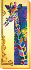 Набор для вышивки бисером на холсте Радужный жираф
