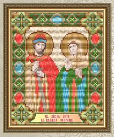 Набор для выкладки алмазной мозаикой Святой Князь Пётр и Святая Княгиня Февронья Art Solo АТ5012 - 248.00грн.