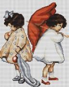 Набор для вышивки крестом Рассерженные девочки