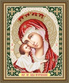 Схема вышивки бисером на авторской канве Игоревская Образ Пресвятой Богородицы Art Solo VIA4267 - 45.00грн.