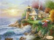 Рисунок на ткани для вышивки бисером Домик мечты. Романтический маяк