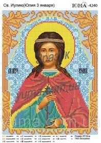Схема вышивки бисером на атласе Св. Иулия (Юлия)