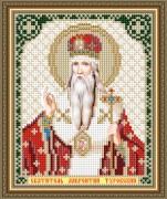 Схема вышивки бисером на авторской канве Святитель Лаврентий Туровский
