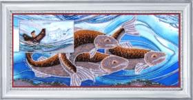 Схема для вышивки бисером на атласе Стихия воды