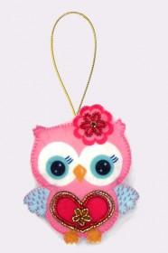 Набор для изготовления игрушки из фетра для вышивки бисером Совушка Баттерфляй (Butterfly) F001 - 54.00грн.