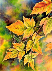 Схема вышивки бисером на атласе Осенняя паутинка Tela Artis (Тэла Артис) ТА-466 - 115.00грн.