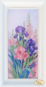 Набор для вышивки бисером Милые сердцу цветы Tela Artis (Тэла Артис) НТК-049 - 550.00грн.