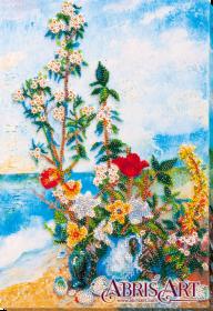 Набор для вышивки бисером на холсте Цветы на берегу Абрис Арт AB-635 - 386.00грн.