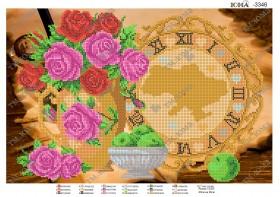 Схема для вышивания бисером на атласе Часики