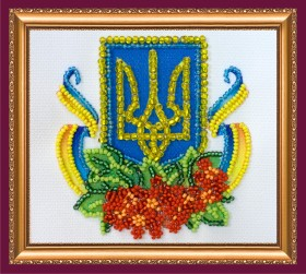 Набор для вышивки бисером магнит Калиновый край, , 39.00грн., АМА-171, Абрис Арт, Украина