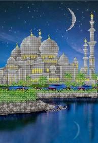 Схема вышивки бисером на атласе Мечеть А-строчка АХ2-067 - 159.00грн.