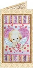 Набор - открытка для вышивки бисером Маленький купедон Абрис Арт АО-135