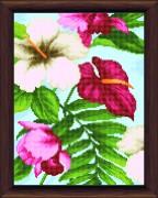 Схемы вышивки бисером на авторской канве Цветы