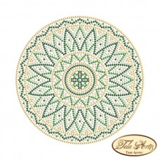 Схема вышивки бисером на габардине Мандала Малахит Tela Artis (Тэла Артис) МА-010(1) ТА
