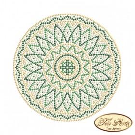 Схема вышивки бисером на габардине Мандала Малахит Tela Artis (Тэла Артис) МА-010(1) ТА - 50.00грн.