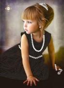 Схема для вышивки бисером на атласе Маленькая принцесса