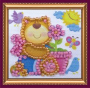 Набор - магнит для вышивки бисером Медвежонок