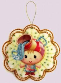 Набор для изготовления игрушки из фетра для вышивки бисером Водолей, , 48.00грн., F131, Баттерфляй (Butterfly), Гороскоп