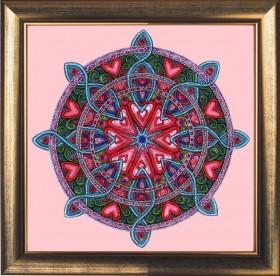 Набор для вышивки бисером Мандала любви и гармонии