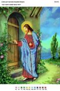 Рисунок на габардине для вышивки бисером Ісус стукає в двері серця твого