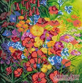 Схема вышивки бисером на холсте Цветочное полотно