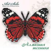 Набор-магнит для выкладки алмазной мозаикой Красный адмирал (Vanessa atalanta)