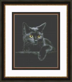 Набор для вышивки крестом Чёрный кот
