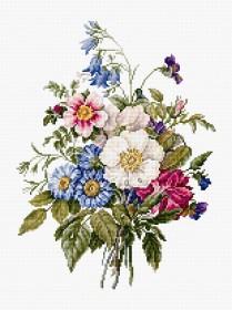 Набор для вышивки крестом Букет летних цветов