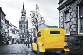 Схема для вышивки бисером на атласе Yellow cab