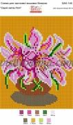 Рисунок на габардине для вышивки бисером Серія квітів: Лілії