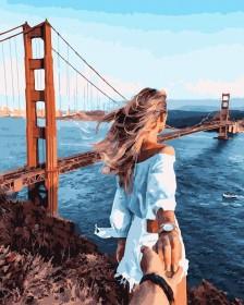 Набор для выкладки алмазной мозаикой Следуй за мной: Мост Золотые Ворота