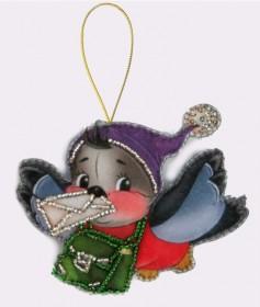 Набор для изготовления игрушки из фетра для вышивки бисером Снегирь , , 48.00грн., F030, Баттерфляй (Butterfly), Наборы для шитья кукол