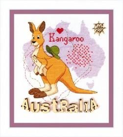Набор для вышивания крестом Детский мир. Австралия