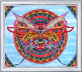 Набор для вышивки бисером Мандала - бабочка Баттерфляй (Butterfly) 118Б - 348.00грн.