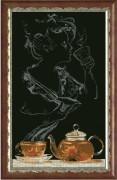 Набор для вышивки крестом Чайная фантазия - она 1