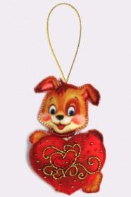 Набор для изготовления игрушки из фетра для вышивки бисером Щенок, , 48.00грн., F016, Баттерфляй (Butterfly), Собака символ 2018 года своими руками
