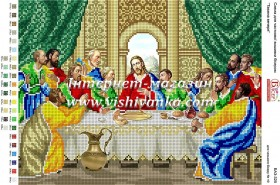 Схема для вышивки бисером на габардине Таємна вечеря, , 45.00грн., БА3-325, Вишиванка, Иконы