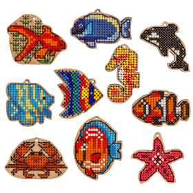 Набор заготовок для вышивки бисером по дереву Подводный мир Волшебная страна FLSW-011 - 200.00грн.